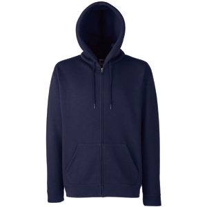 "Толстовка ""Zip Through Hooded Sweat"", темно-синий_M, 70% х/б, 30% п/э, 280 г/м2"